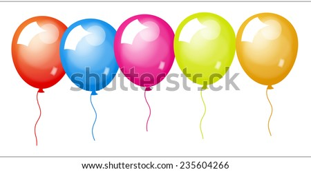 Shiny Colored Balloons