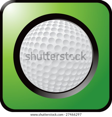 shiny colored golf ball icon