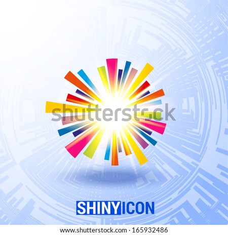 Shiny colorful icon, can be used as background for your presentations. Vector eps10 - stock vector