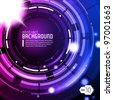 Shiny Dark Round Background Blue Violet Purple Blue EPS10 - stock vector