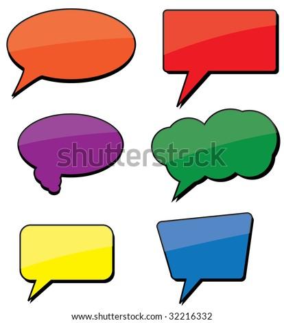 Shiny dialogue bubbles. Vector - stock vector
