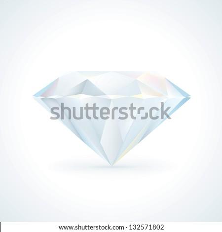 Shiny Diamond Jewel - stock vector