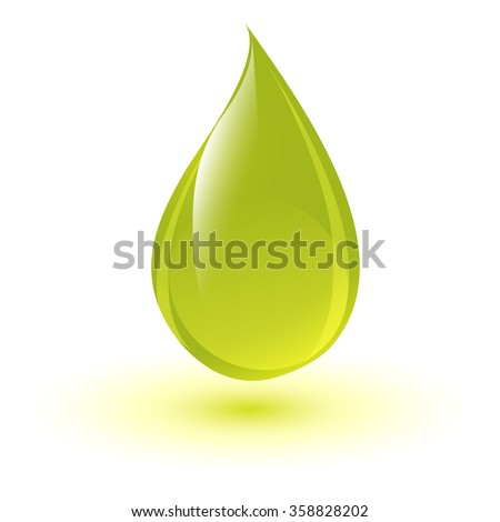 Shiny drop of oil or detergent  - stock vector