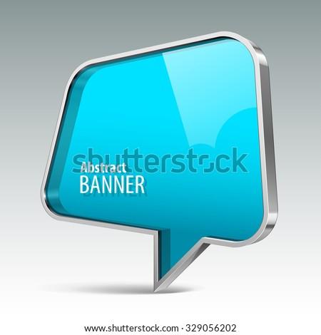 Shiny gloss azure vector banner. eps 10 - stock vector