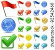 Shiny Glossy Web Icons. Vector Illustration - stock vector