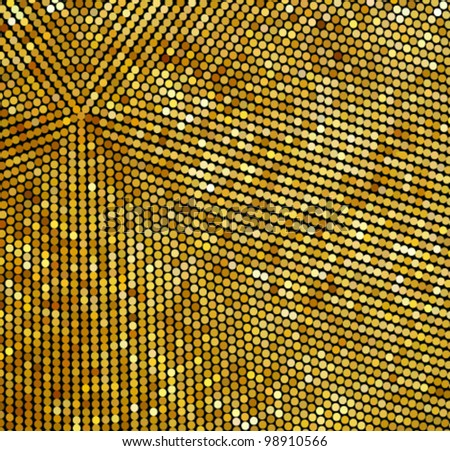 Shiny gold Background - stock vector