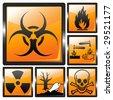 Shiny harmful signs vector illustration - stock vector