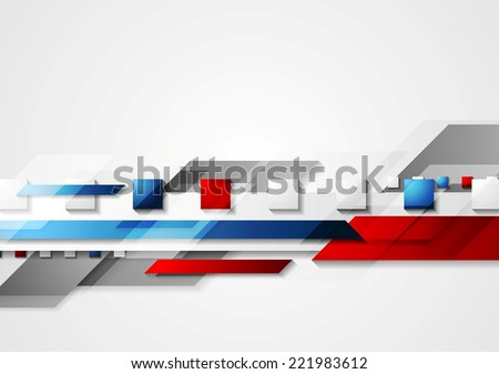 Shiny hi-tech red and blue background. Vector design - stock vector