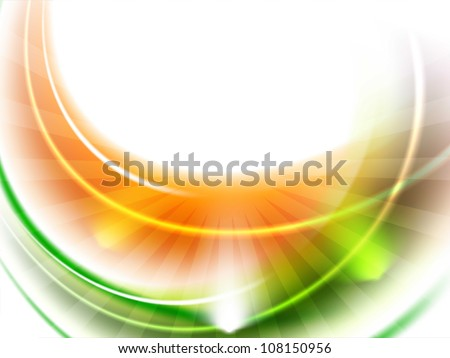 Shiny Indian Flag wave background. EPS 10. - stock vector