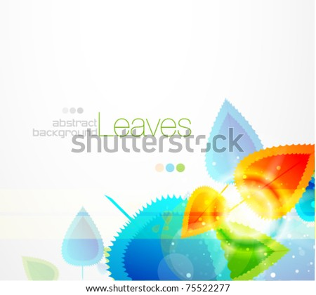 Shiny leaves. Vector eps10 abstract background - stock vector