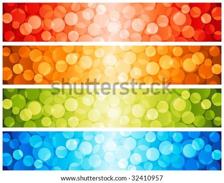 Shiny lights dots. Vector illustration. - stock vector