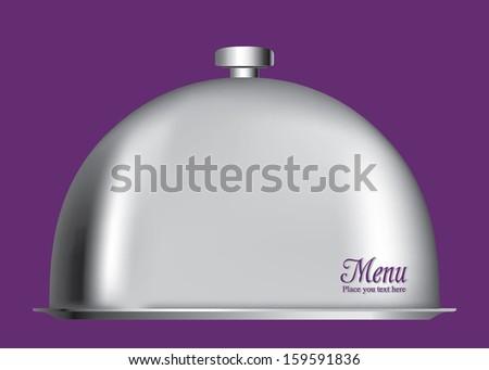 Shiny Menu Cloche closed - stock vector