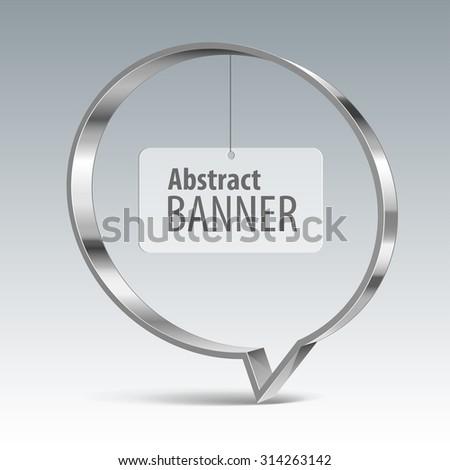 Shiny metal vector vector banner. eps 10 - stock vector