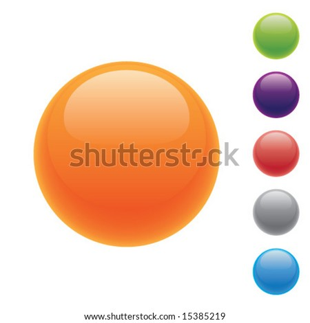 Shiny navigation buttons for website or interface design. - stock vector