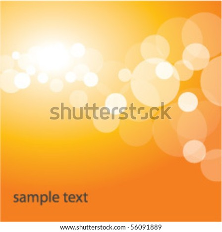 Shiny Orange Background - stock vector