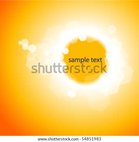 Shiny Orange Background With Text Space - stock vector