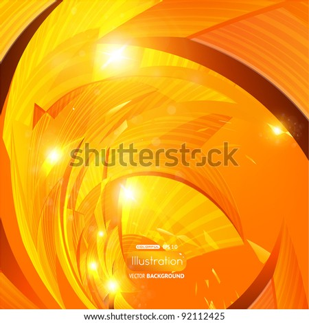 Shiny orange eps10 abstract background - stock vector