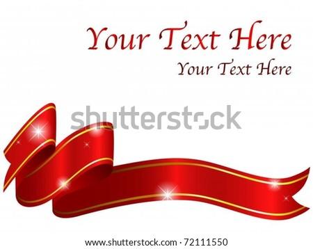 Shiny red ribbon - stock vector