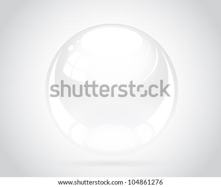 Shiny Silver Ball - stock vector