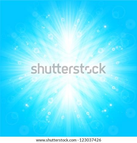 shiny snowflake crystal background - stock vector