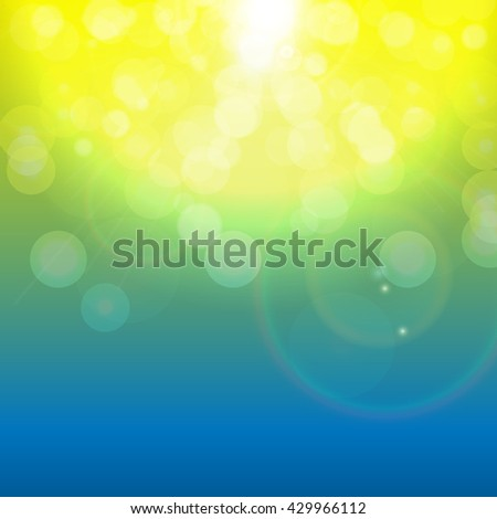 Shiny Spring Natural Background. Vector Illustration EPS10 - stock vector