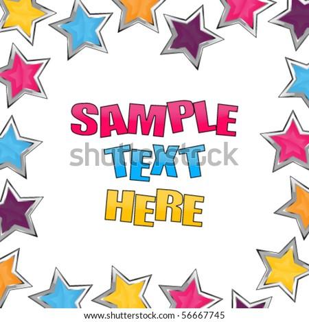 Shiny stars party invitation - stock vector