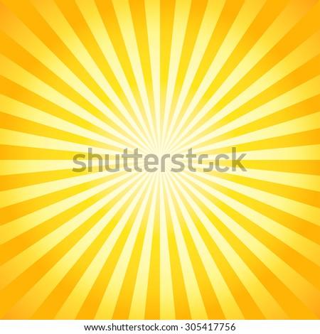 Shiny summer lights, starburst & sunburst background - stock vector