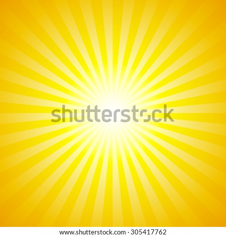 Shiny summer lights, starburst & sunburst background - stock vector