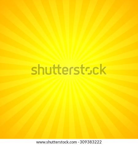 Shiny summer lights, starburst & sunburst background. Vector illustration. - stock vector
