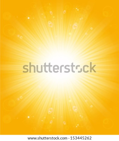 shiny sun lights, abstract natural summer background - stock vector
