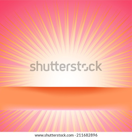 shiny sun vector, sunbeams, sundays . Vector eps10 - stock vector