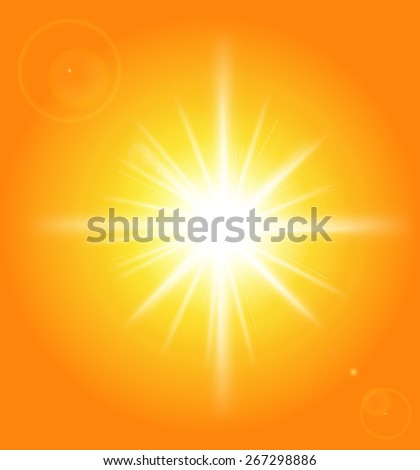 shiny sun vector, vector background.