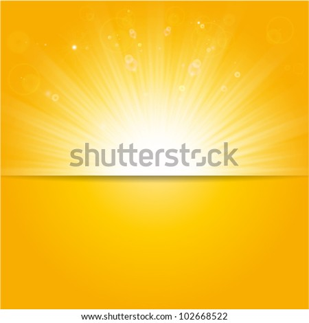 shiny sunburst vector, sunbeams, sunrays - stock vector