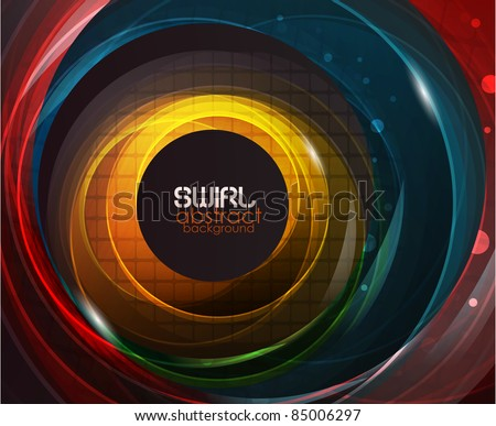 Shiny swirl background - stock vector