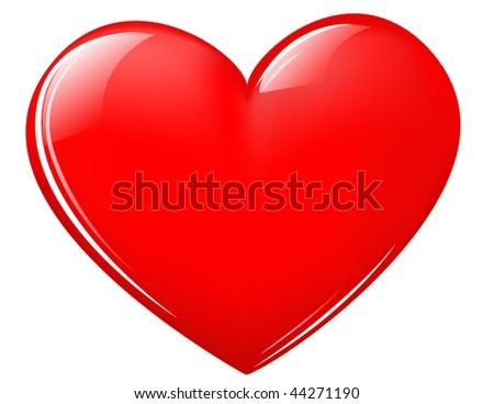 shiny Valentine heart - stock vector