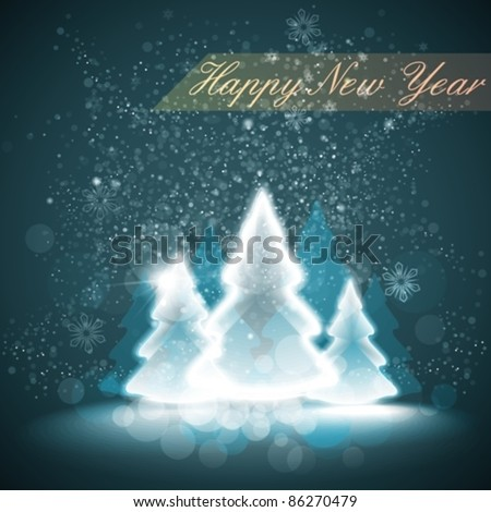 shiny winter background. eps10 - stock vector