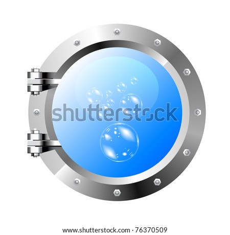 ship's porthole on a white wall
