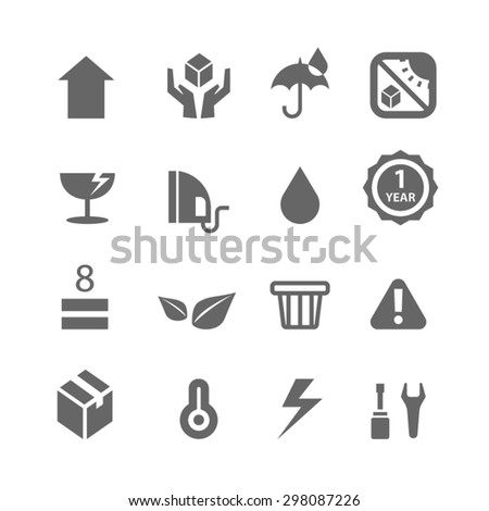 Shipping and Logistics icons,Vector - stock vector