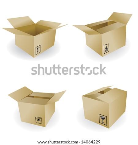shipping box vector - stock vector