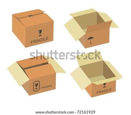 Shipping box. Vector illustration - stock vector