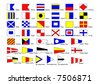 shipping international signal flags - stock vector