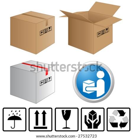 shipping service - stock vector