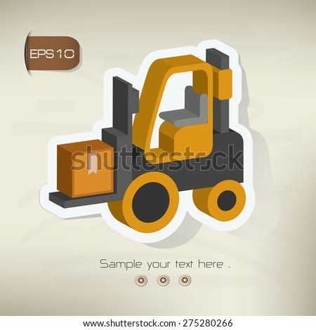 Shipping sticker design on old background,vector - stock vector
