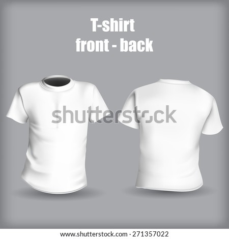 Shirt front and back on a gray background stylish vector illustration - stock vector