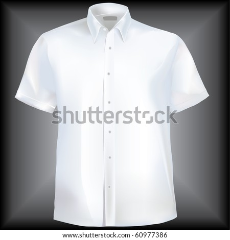 Shirt with collar and half sleeves in mesh - stock vector