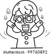 shock emotion guy series, vector file - stock vector