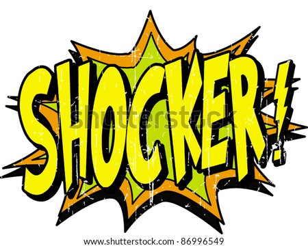 shocker - stock vector
