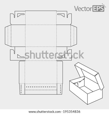 Shoe Box - stock vector