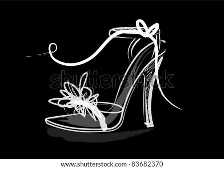 shoe illustration/vector - stock vector