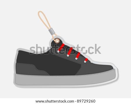 shoe label - stock vector